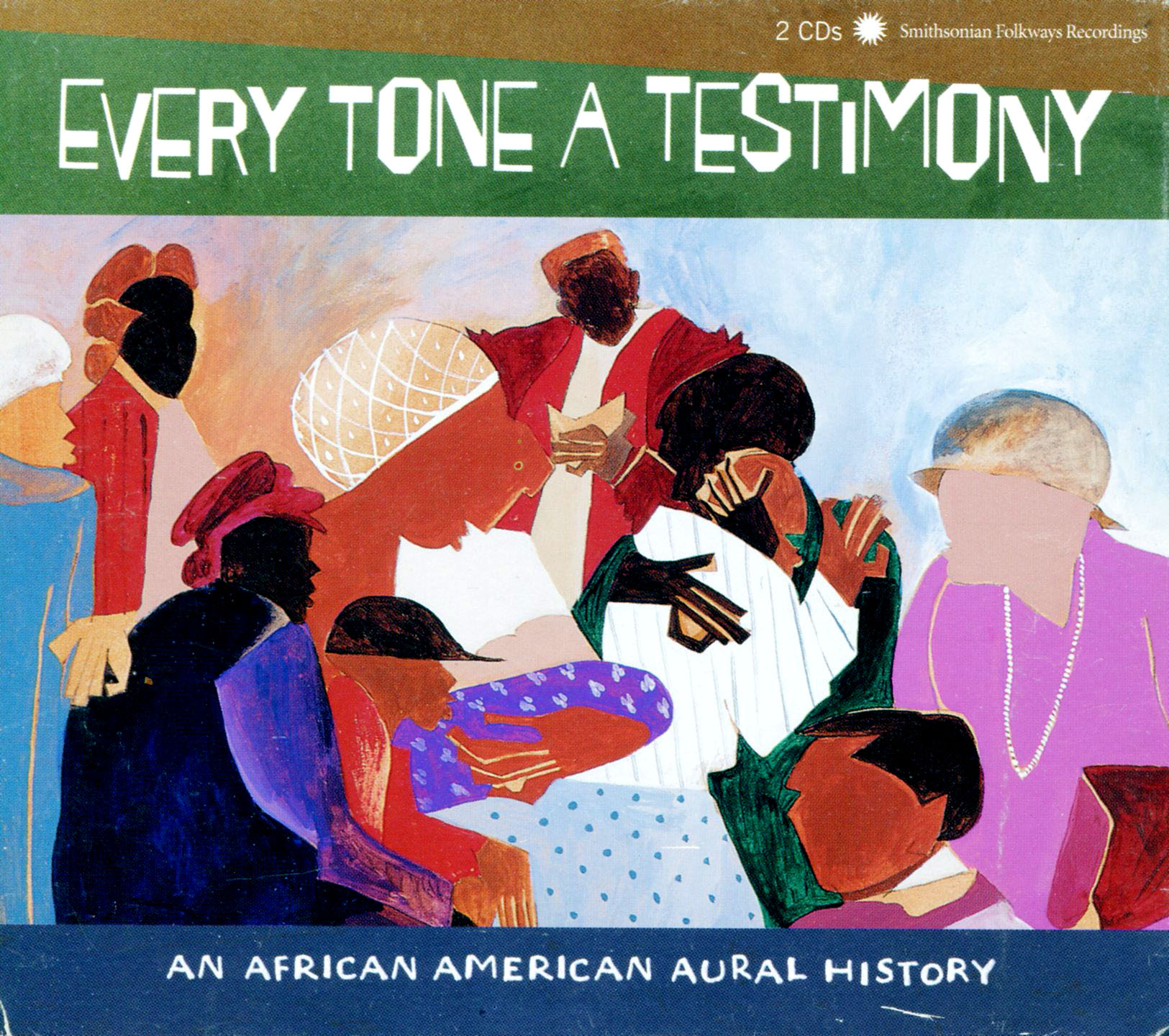 Every Tone a Testimony,  an oral history of African American produced by the Smithsonian. Cover Illustration and the illustrated booklet inside.