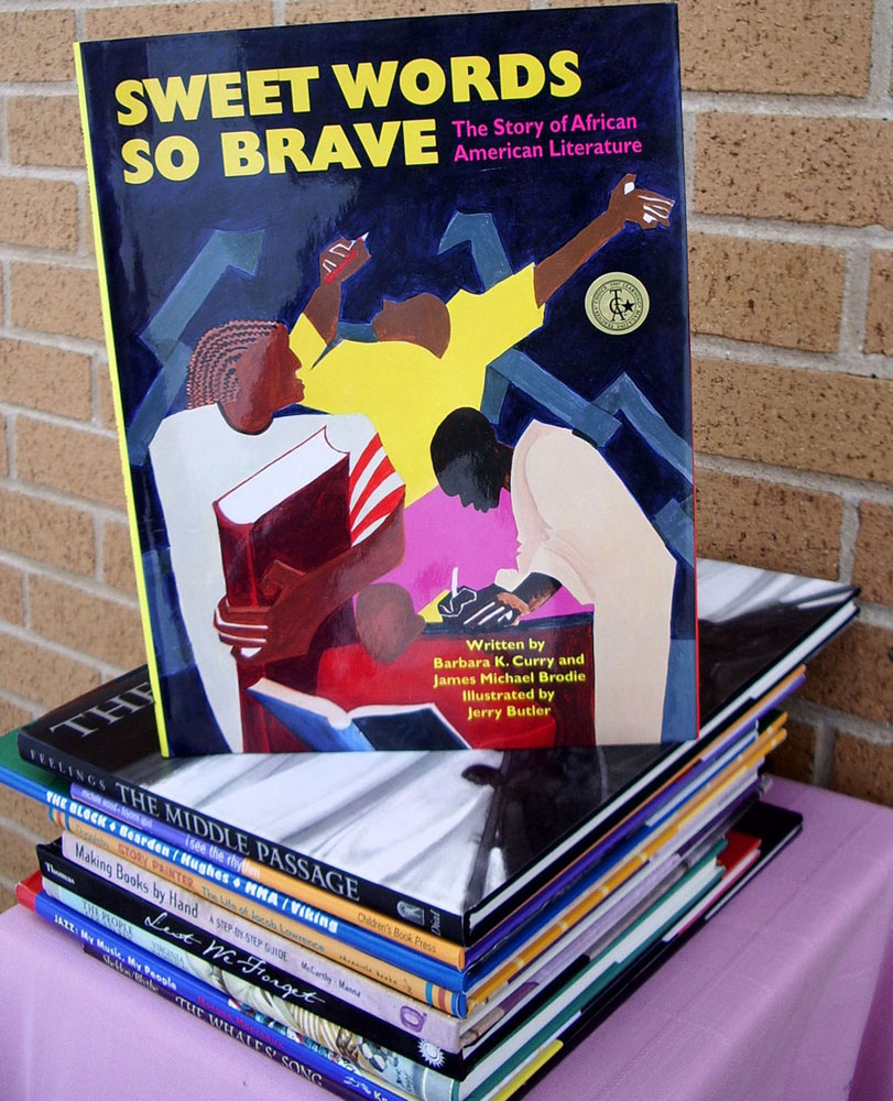Sweet Words So Brave, book illustrations and design by Jerry Butler. Received the Elizabeth Burr Award