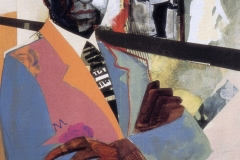 Self Portrait by Jerry Butler. Mixed Media on rag board, 18 x 24, 1999. <em>Isthmus</em> cover.